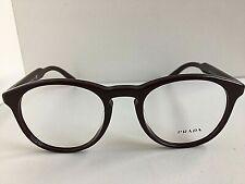 New PRADA VPR 1S9F USF-1O1 50mm Round Burgundy Eyeglasses Frame #5