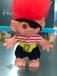 "vintage thomas dam pirate troll bank 7"" tall 1960's GUC eyepatch earring bank gi"