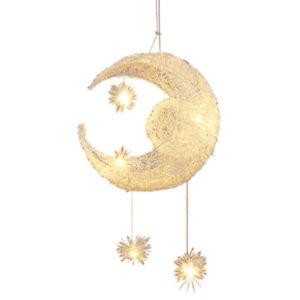 Moon Star Pendant Lamp Children Bedroom Lights Kid's Chandelier Light Ceiling
