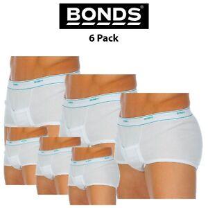 Mens Bonds Support Brief Trunk 6 Pack Underwear Sport Cotton Pouch Cricket M810