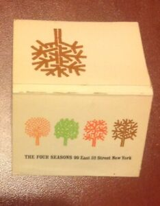 THE FOUR SEASONS  - New York - matchbook cover