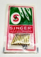 PACK OF 10 SINGER SEWING MACHINE BALL POINT NEEDLES SIZE 90/14 GOLD BAND STRETCH