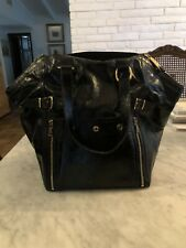 Yves Saint Laurent Black Patent Leather Buckle Tote Purse - Vintage from 2000's!
