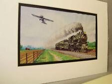 NYC Hudson River Railroad Empire Express 1893 Artist Railroad Archives bt