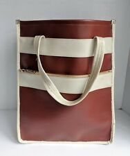 Vintage Retro Pleather Two Toned Tote Bag