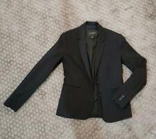 Black Banana Republic Blazer  Size 0 Button Up Long Sleeve Suit Coat Womens