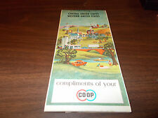 1967 Co-Op Central and Western US Vintage Road Map