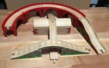Thomas Wooden railway Curves + Bridges + Tunnels + Ascending Track