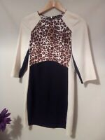 NEW Warehouse ladies size 6 animal print pencil wiggle dress slimming #e6