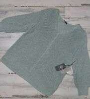 Vince Camuto Size X-Large V-Neck Sweater Knit Green Women's MSRP $99