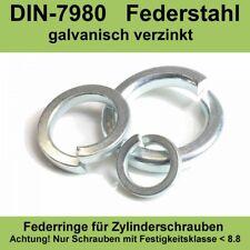 M12 DIN7980 Federringe für Zylinderschrauben verzinkte Federstahl Stahl 20-500ST