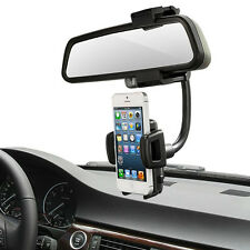 360° Car Rearview Mirror Mount Holder Stand Cradle For Cell Phone GPS x1