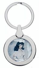 Bettie Paige Nurse Chrome Keyring