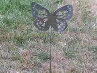 Beautiful Butterfly Garden yard art metal stake flower insect bug #14