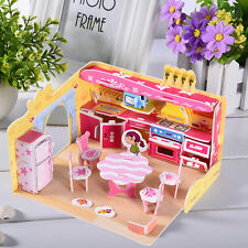 81pcs Mini Kitchen House 3D Paper Jigsaw Puzzle DIY Educational Model Toys Gift