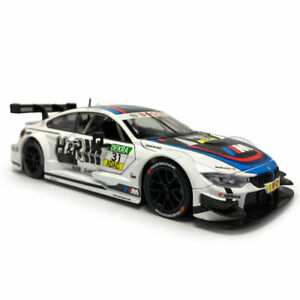 1/24 BMW M4 DTM Racing Car Model Diecast Toy Vehicle Kids Collection Gift White