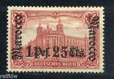 DP Marokko 1 P. 25 C. Aufdruck 1906 Aufdruckfehler Michel 43 I Attest (S7875)