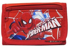 Marvel Spiderman Ultimate Authentic Licensed Trifold Children Wallet (Red)