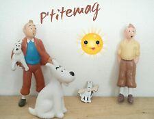 Figurines Hergé Lu 94 et plastoy 94 +  Pin's Tintin et Milou