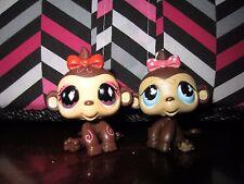 Littlest pet shop LPS Set of 2 monkey twin #501 #714 Hasbro