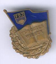 """seltenes FDJ-Abz. """"Für gutes Wissen -Bronze mit Nr.13074, Bartel Nr.20a"""