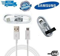 100% Genuine Samsung Galaxy S6 Edge S7 Note 4 5 Fast Charger USB Data Cable Lead