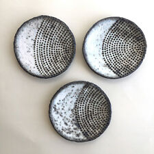 Little Dish Sushi Plate Rustic Gray Farmhouse Country House Studio Pottery Black