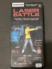 Infrared Laser Tag Guns and Vests - Laser Battle Game - Pk of 2 - Green & Orange