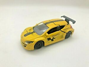 Majorette Renault Megane Trophy Car Model Yellow with Black Wheel Racing Diecast