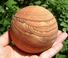 75 mm XXXL Gorgeous Arizona Sierra Picture Sandstone Sphere Crystal Ball Red