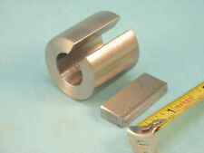 5/8 ID X 1-1/4 OD X 1-1/4L Shaft Adapter Bore Reducer Bushing  & 3/16 to 1/4 Key
