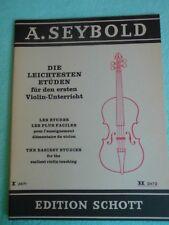 A. Seybold Die leichtesten Etüden für den ersten Unterricht Heft II Schott