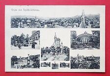 Mehrbild AK TEPLITZ SCHÖNAU in Böhmen 1912 Ansichten aus der Stadt   ( 31374