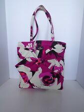 New Kate Spade Floral Summer Bow Beach Purse Pink Cotton Tote