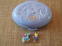 Vintage Bluebird Polly Pocket 1995 Unicorn Meadow Compact C1