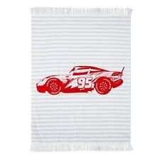 "Cars Lightning McQueen Woven Gray Throw Blanket (50""x60"")"