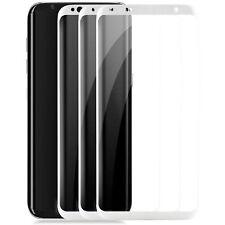 3x gekrümmtes Displayschutzglas für Samsung Galaxy S8 - Schutz Glas Folie 9H 3D