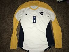 Nike West Virginia Mountaineers #8 Womens Volleyball L/S White Game Jersey *L*