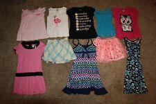 Lot Of 10 Girls Clothing Size 8 Justice & Gymboree Shirts Skirts Dress Pjs Tank