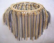 New BEBE in Gold Silver Gun Fringe Chain Bangle Bracelet Браслет Neu Armband