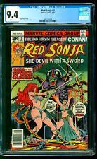 Red Sonja 3 CGC 9.4 NM Roy Thomas story Frank Thorne cover art Marvel 1977