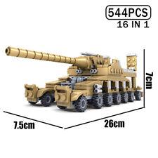 544PCS 16 in 1 Army Tank Building Blocks Bricks Military Toys For Children