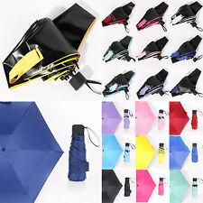 Faltbar Regenschirm Taschenschirm Klein Reise Schirme Minischirm Sonnenschirm
