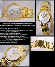 "Luxury & Valuable Women's Watch Swiss Made "" Jacques Lemans "" 10micron Gold"