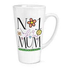 No.1 Mamá Corazones 483ml Grande Latte Taza - Divertido Día de la Madre Amor