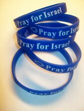 PRAY FOR ISRAEL. Rubber wrist bands.Messianic.Yeshua.You get FIVE(5)Such a deal!
