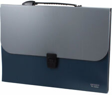 NEW UXCELL Paper DOCUMENT HOLDER Briefcase Style 13 Compartments Plastic Cover