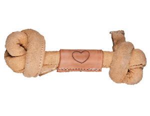Hugglehide Hugglehound NATURAL Leather Dog BONE  Sm, Med or LRG