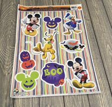 Disney Mickey Mouse Donald Duck Pluto Boo Halloween 9 Static Window Clings Decor