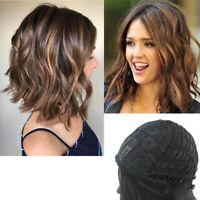 Women Fashion Full Hair Wigs Medium-length Curly Wavy Gradient Color Wig Cosplay